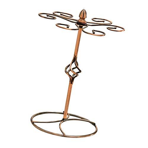 Fenteer Estante Estilo árbol con 6 Ganchos Soporte de Metal para Copas de Vino Estante para Copas Sistema de Secado Al Aire Pantalla de