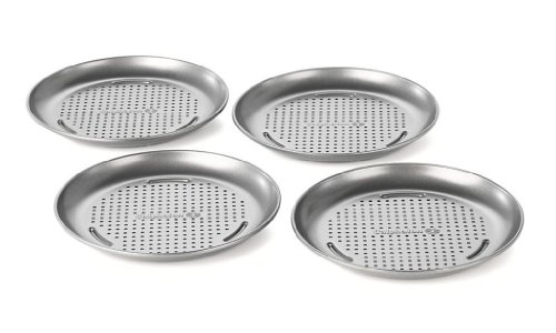 Calphalon 1836836 4 PACK MINI PIZZA PAN, 7-in, Silver