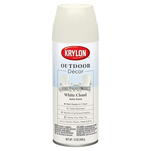 Krylon K09325000 Outdoor Décor Spray Paint, White Cloud