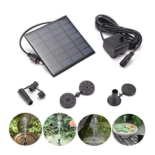 Mini bomba de fuente solar, kit de panel de bomba de agua de energía solar al aire libre de 1.2W 180L / H, bomba de agua con energía solar para baños de aves, piscina de fuente sumergible o patio de estanque de jardín