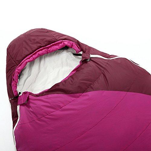 QFFL shuidai Sac de Couchage Momie/Coton / Lumière Portable/Outdoor Camping Randonnée/Idéal 4 Saisons Sac de Couchage Sac de Compression 220 * 80 (55) cm (Couleur : B)
