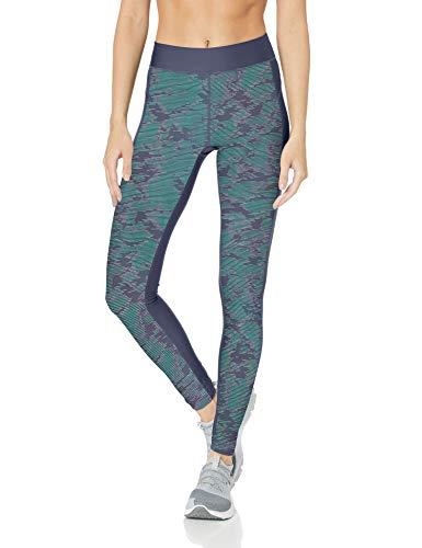 Under Armour UA HG bedrukte legging voor dames, Utility blauw/metallic zilver, klein