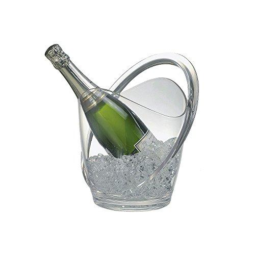 APS Wein-/Sektkühler, Kunststoff, Transparent 28 x 28 x 30 cm
