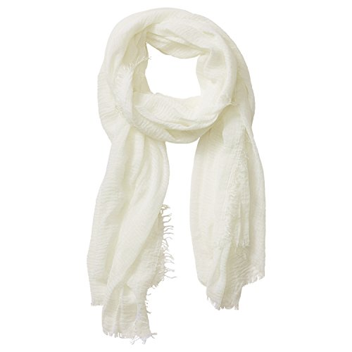 Tickled Pink Women's Lightweight Summer Insect Shield Scarf, Classic Ivory, One Size