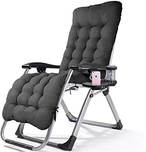 Folding Lunch Break Sofa backrest Beach Chair Folding Bed Chair Folding Recliner,Black