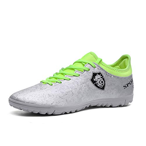 Sneakers Zapatillas De Fútbol Para Hombre,FG De Botas De Fútbol Para Profesionales Outdoor Sports Shoes Lace Beginner Teens Training Soccer Shoes Black Blue (4 Color) 33-44EU
