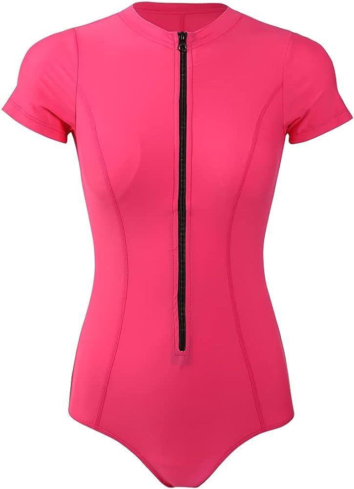 8℃ Women's Short Sleeve One Swimsuit Max mart 41% OFF Guard Piece Rash
