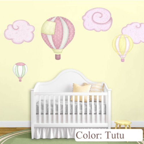 Amazon Com Hot Air Balloon Decals Cloud Wall Stickers For Baby Room Nursery Tutu Home Kitchen