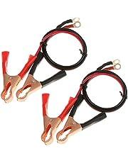 【4本】バッテリーワニ口クリップ ケーブル 50A 高出力 アリゲータークリップ推進ケーブル インバータ用クランプ 使い方簡単