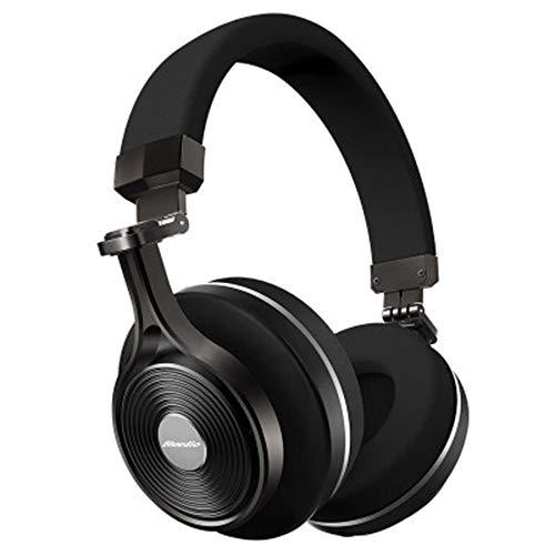 AN Drahtlose Stereo-Kopfhörer, Tragbares Bluetooth-Headset Mit Mikrofon-Headset Für iPhone Samsung Xiaomi Phone Music,Schwarz