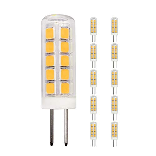 10 Pack G4 LED Light Bulbs 2W Equivalent to 20W 25W 15W Halogen Warm White 3000k 220LM AC DC 12V JC Bi-Pin Base Bulb for Home and Landscape Lighting