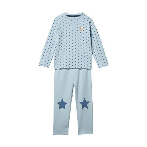 Steiff Jungen Schlafanzug Schlafanzugoberteil, Blau (Winter Sky 3023), (Herstellergröße: 104)