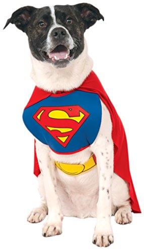 DC Comics Superman Cape With Chest Piece Pet Costume