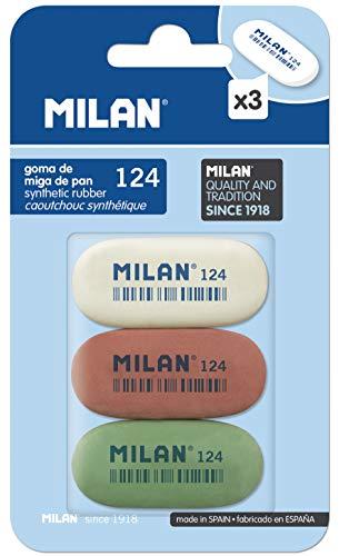 Milan BMM9203 - Pack de 3 gomas de borrar