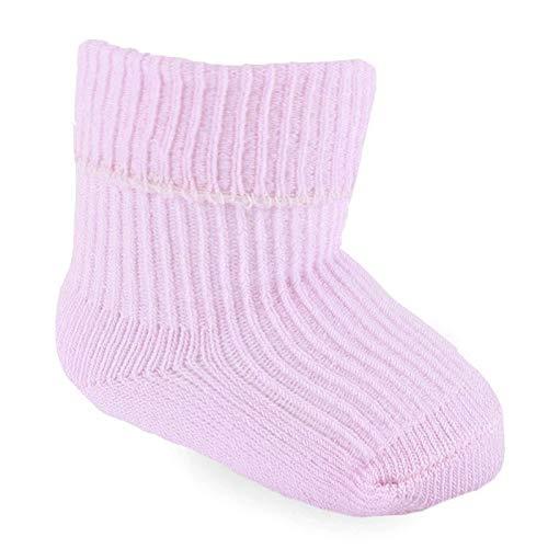 Calcetines suaves para bebé lisos, blancos, rosas, azules,