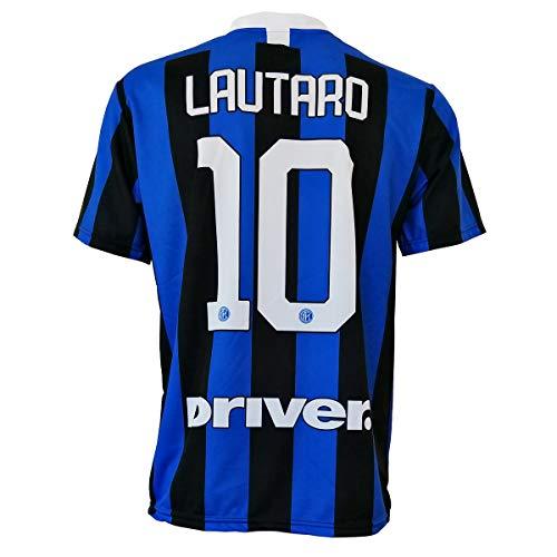 Inter AUTORISIERTES REPLIKA T-Shirt LAUTARO Martinez 10 2019-2020 Kinder (GRÖSSE-Jahren 2-4-6-8-10-12) Erwachsene (S-M-L-XL) NOTIZIEN LESEN (12/13 Jahren)
