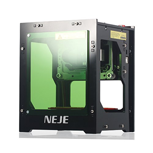 NEJE Stampante Laser Engraver per Incisione 1500mW Mini Engraving Macchina 550 * 550 Pixel - 405nm Wavelength - Engraving Space 42 * 42 * 78mm - 6000mAh Li-ion Battery - Bluetooth 4,0 within 10 Meter