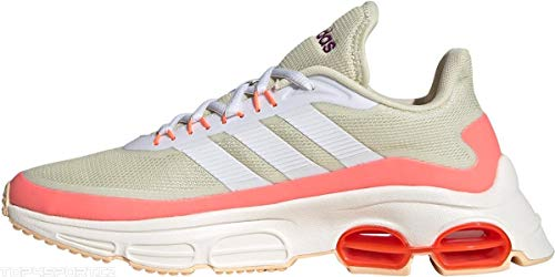 adidas QUADCUBE, Zapatillas de Running Mujer, FTWR White/FTWR White/Signal Coral, 38 EU