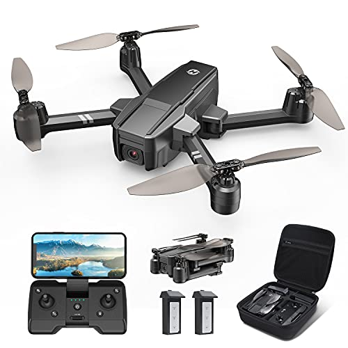 Holy Stone HS440 Foldable FPV Drone with 1080P WiFi Camera for Adults and Kids; Voice and Gesture Control RC Quadcopter with 2 Batteries for 40 Min flight, Auto Hover, Gravity Sensor, Carrying Case