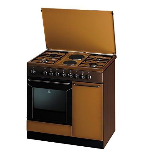 Indesit K9B11SB(B)/I Cucina a Gas a Libera Installazione, 52 Litri, Marrone