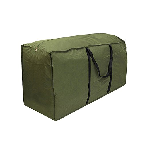 Lembeauty-Sac léger de rangement pour coussins de meubles de jardin C: 173 x 76 x 51 cm Vert