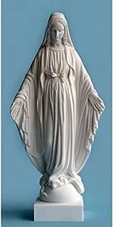 30 CM Grande Statue de la Tr/ès Sainte Vierge Marie de Lourdes en r/ésine color/é H