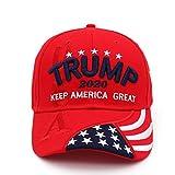 2020夏の野球帽、ドナルドトランプ大統領選挙の帽子2020を保つアメリカの偉大な帽子米国旗刺繍帽子、調節可能な通気性野球帽、男性女性用