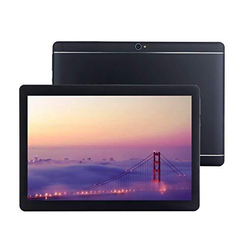 Android 8.1 Tablet 10 Zoll mit SIM-Kartensteckplätzen 4 GB RAM 64 GB ROM Quad Core 3G freigeschaltetes GSM-Telefon Tablet-PC Eingebauter WiFi Bluetooth GPS (Schwarz)