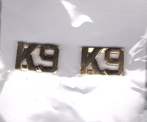 """K-9 Metal Letter in Gold Plating 1/2"""""""