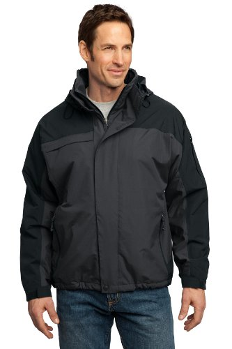 Port Authority Tall Nootka Jacket3XLT Graphite/Black TLJ792