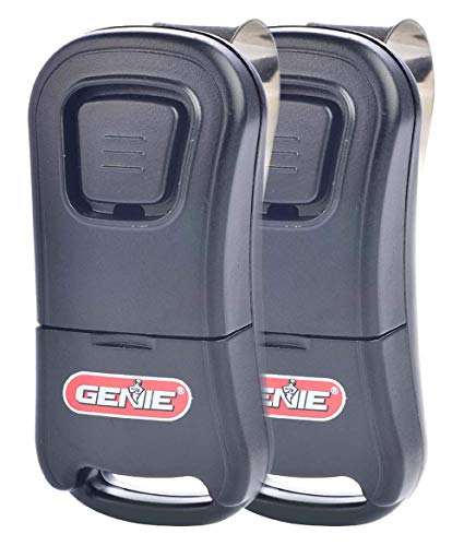 genie garage openers Genie Single Button Garage Door Opener Remotes (2 Pack) - Safe & Secure Access - Each Remote Compatibile Only With Genie Intellicode Garage Door Openers - Model G1T , Black - G1T 2-Pack