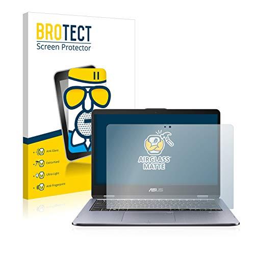 BROTECT Entspiegelungs-Panzerglasfolie kompatibel mit Asus VivoBook Flip 14 TP410UA - Anti-Reflex Panzerglas Schutz-Folie Matt