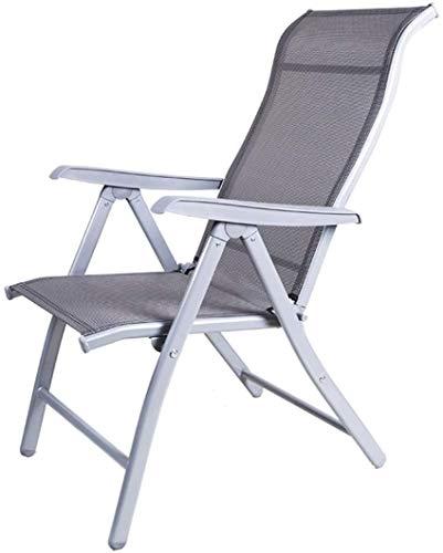Silla de tumbona de servicio pesado Muebles de jardín, jardín de camping sillas de cubierta plegable cero gravedad reclinable reclinable reclinación impermeable chaise tumbos metal para oficina al air