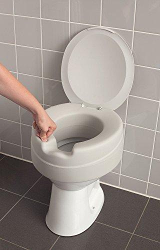 Stock- Fachmann Toilettensitzerhöher Soft Mit Deckel Erhöhung Um Ca 11cm Einfach Aufstecken Und Festdrücken Montage Ohne Werkzeug