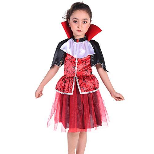 HBBMAGIC Disfraz de vampiro gtico para nias, disfraz de Halloween, disfraz para nios, cosplay, fiesta