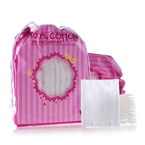 DUOER HOME Gesichtsmake-up Entferner 200 stücke Baumwolle Make-Up Entferner Pads Weiche Organische Nagellack Tücher Doppelseitige Gesichtsreinigung Schönheit Kosmetische Pads (Color : White)