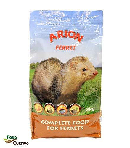 Pienso Completo para Hurones Arion 3kg Hurones Mascotas como de Caza.