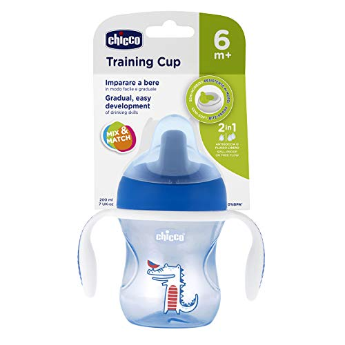 Copo Training Cup 6M+ Menino, Chicco, Azul