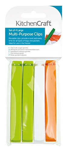 Kitchen Craft Clips Grandes Cierre Bolsas, Multicolor,