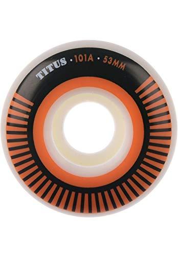 TITUS Skateboard Rollen Classic Bicolor Regular 101A White-Orange Größe 53mm