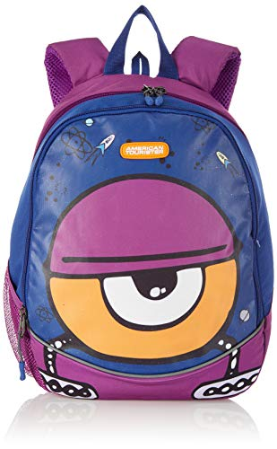 American Tourister Kiddle Polyester 26 cms Space Blue School Backpack (FO0 (0) 11 001)