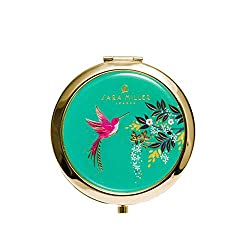 💎 STUNNING DESIGN - Featuring a vibrant pink Hummingbird and intricately detailed branches with gold foil detailing, this elegant travel makeup mirror is part of the Chelsea Collection, a brand new range of products from Sara Miller London. 💎 COMPACT...