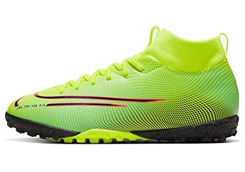 Nike Jr. Mercurial Superfly 7 Academy MDS TF, Football Shoe Unisex-Child, Veneno Limón/Aurora/Negro
