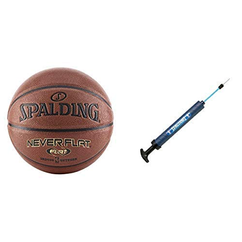 Great Deal! Spalding Never Flat Basketball - Official Size 7 (29.5) 12 Dual Action Pump