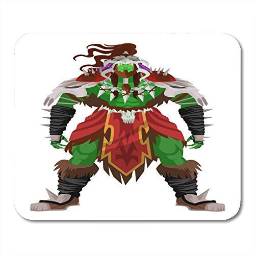 Mauspads knochen angry green orc schamane barbar nomad warrior beast creature mauspad für notebooks, Desktop-computer mausmatten, Büromaterial