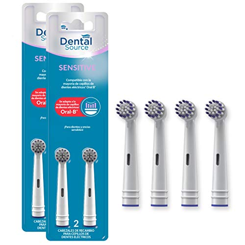 Dental Source SENSITIVE, Cabezales de recambio para Oral-B c