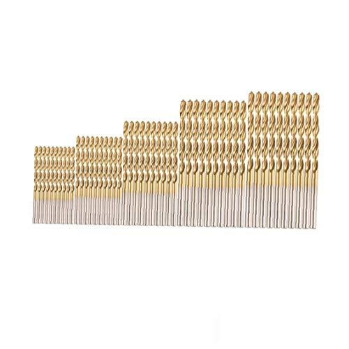Naicasy 1set(50pcs) Professional Drill Bits Set High Speed Steel Mini Drill Bits for Steel Wood Plastic Aluminum Alloy (1.0-3.0mm)