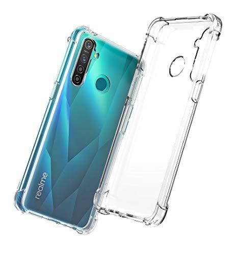 QHOHQ Cover per Realme 5 PRO, Custodia Trasparente Gel Silicone Sottile TPU Silicone Ultra Sottile Case per Realme 5 PRO (Trasparente)