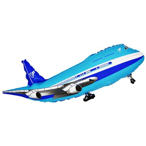 Folienballon Flugzeug blau