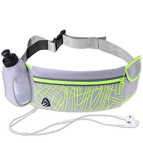 JTH Running Belt Taille Met Water Fles Houder Fitness Waterdichte Bum Bag Fietsen Taille Tas Workout Pouch Hond Wandeltas Voor Reizen Running Fietsen